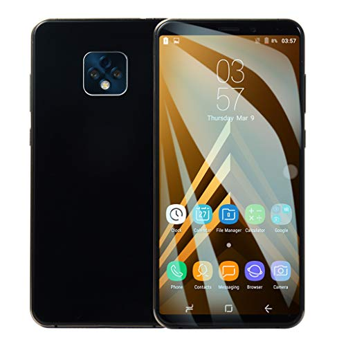 2019 New -Unlocked Smartphone,6.1 Inch Ultra Android 6.0 Quad-Core 1GB+8GB GSM WiFi Dual SIM Mobile Phone Cell Phone (Black) ()