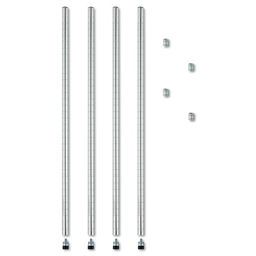 alera-stackable-4-pack-posts-for-wire-shelving-36-inch-silver
