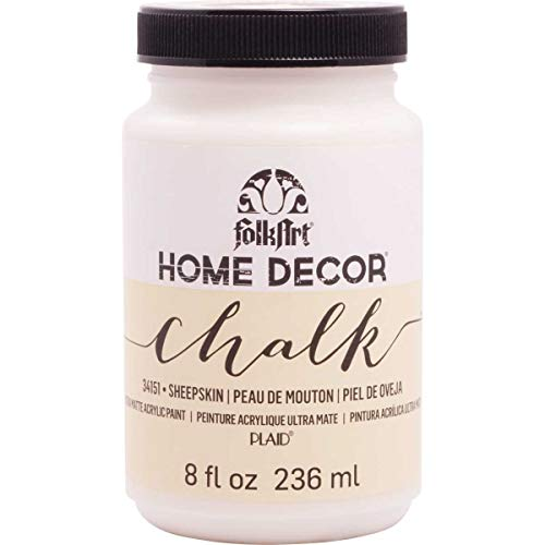 FolkArt 34151 Home Decor Chalk Furniture & Craft Paint in Assorted Colors, 8 ounce, Sheepskin