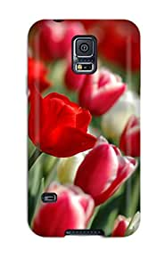 WlSQJhv3688QNYAA Case Cover Protector For Galaxy S5 Colorful Tulips Case
