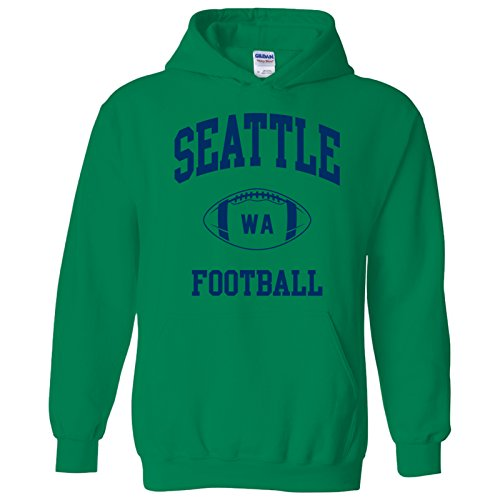 Seattle Classic Football Arch American Football Team Sports Hoodie - 2X-Large - Irish Green
