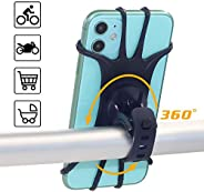 Bike Phone Mount Holder, 360°Rotation Phone Holder for Bike, Universal Adjustable Silicone Band for Most Handl