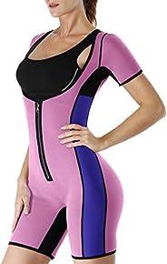 Women Neoprene Sauna Sweat Suit Full Body Shaper Workout Weight Loss Bodysuit Slimming Shapewear