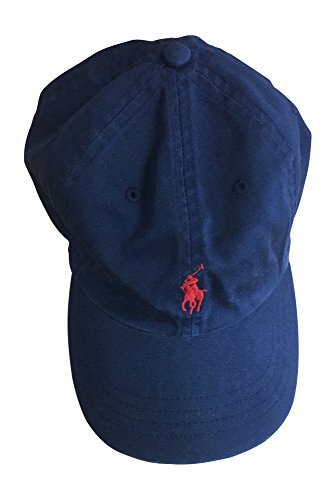 Polo Ralph Lauren Mens Embroidered Logo Ball Cap (One Size, Newton Navy/Red Pony)