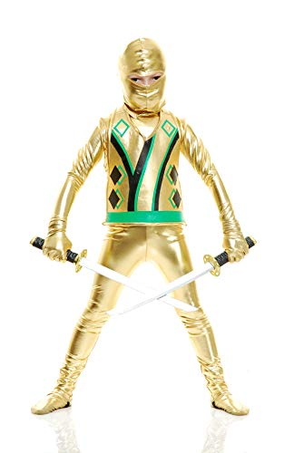 (Charades Child Golden Ninja Series III Costumes, Gold,)