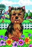 Yorkie Puppy Cut – Tomoyo Pitcher Spring Large Flag