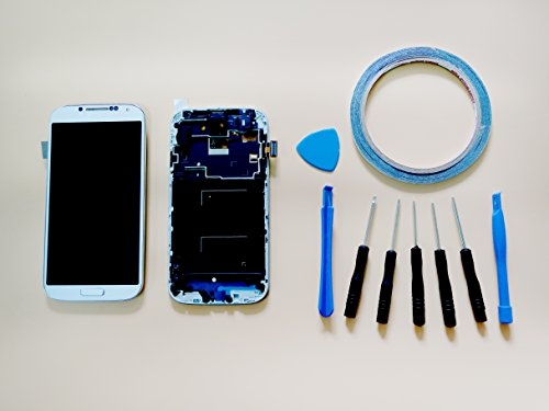 New For Samsung Galaxy S4 i337 M919 LCD Display & Touch Screen Replacement and Digitizer Assembly + Repair Tool Kit (White)