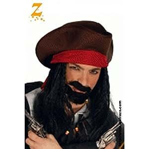Disfraz pirata rayas rojas bebé. Talla: 2 años.