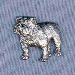 George G Harris SDISC Bulldog Pewter Pin