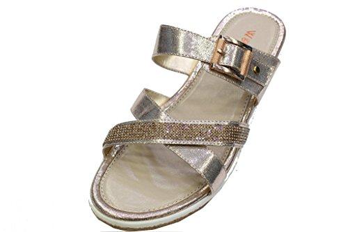 W&W Women Ladies Evening Heel Sandals Prom Party Wedding Shoes (SAN 3443) Gold KmCsbBhW5