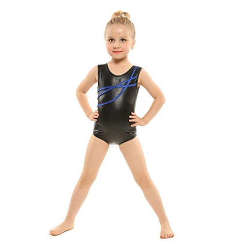 bfd7cbb12 Arshiner Girl s Camisole Gymnastics Solid Sparkle Leotard (130(Age ...