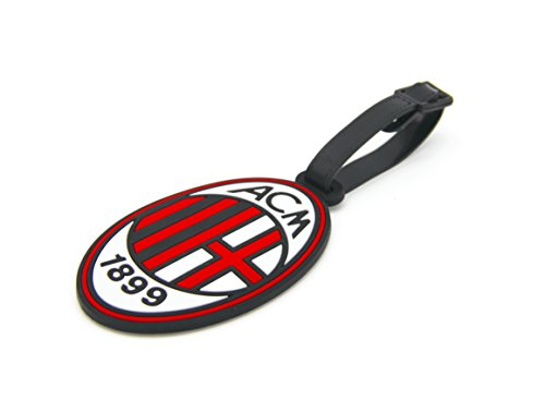 (CellDesigns Set of 2 Soccer Team Football Club Luggage Tag Suitcase ID Tag with Adjustable Strap (A.C. Milan))