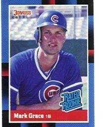 Amazoncom Mark Grace 1988 Donruss Rated Rookie Baseball Card 40