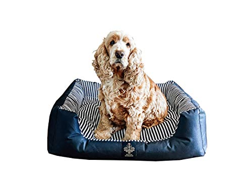 Heritage Accessories Luxury Dog Beds Medium And Puppy Bed Small 70 x 60 cm Black And White Stripe Oxford Premium Luxury…