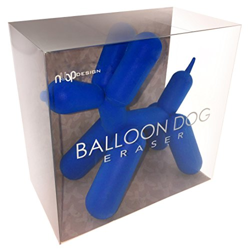 NuOp Design Balloon Dog Pencil Eraser for The Pop Artist's Drawing Mistakes (Blue)