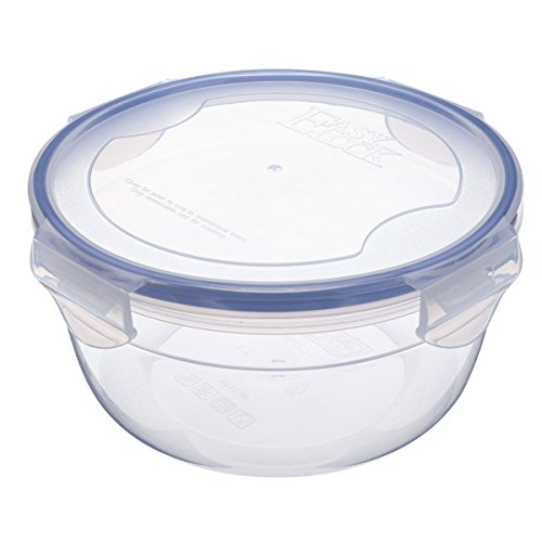 35.5oz Plastic Food Storage Container with Lid, Airtight Round Salad, Fruit Bowl