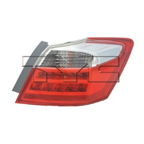 (Go-Parts OE Replacement for 2013-2014 Honda Accord Rear Tail Light Lamp Assembly/Lens / Cover - Right (Passenger) Side Outer - (EX-L + Hybrid EX-L + Hybrid Touring + Touring) 33500-T)