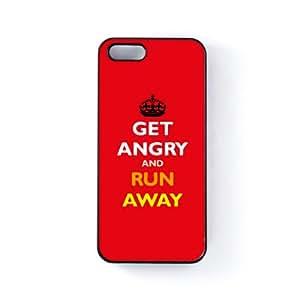 Get Angry Carcasa Protectora Snap-On en Plastico Negro para Apple® iPhone 5 / 5s de Chargrilled + Se incluye un protector de pantalla transparente GRATIS