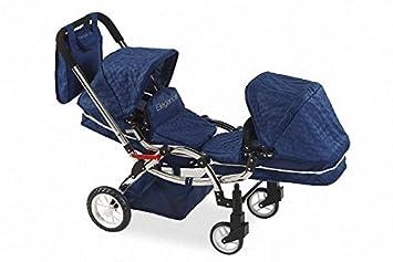 Carro Gemelos Elegance con bolso - Altura manillar: 77 cm - Medidas: 105 x 45 x 77 cm: Amazon.es: Juguetes y juegos
