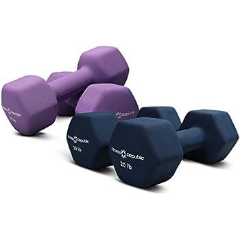 Fitness Republic Neoprene 2 Dumbbell Pairs Combo (15lbs & 20lbs)