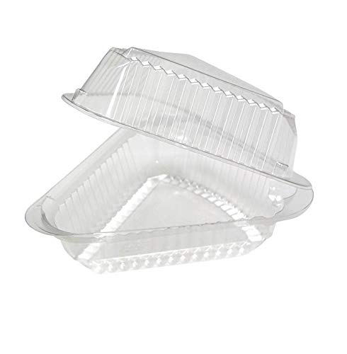 A Slice Of Cake - Hinged Medium Deep Plastic Pie/Cheesecake/Cake Slice Container for 9 inch Pies by MT Products - Pack of 20