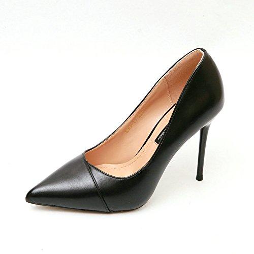 A YMFIE Style européen et Fines Chaussures à Talon Haut Laque Dames Chaussures Chaussures de Travail Unique de la Peau. 39 EU
