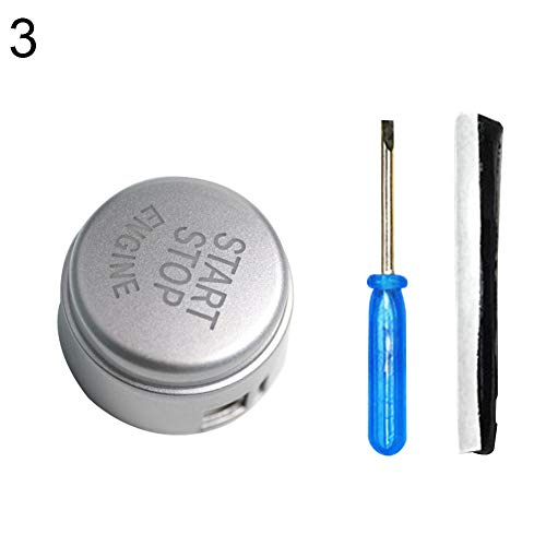 YUSHHO56T Car Engine Start Stop Button Car Interior Parts Button Car Engine Start Stop Button Cover for BMW F Chassis F48 F30 F10 F34 F15 ()