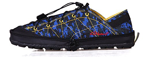 Legend E.C Men's Lesliee Ultra Soft Foldable Sneakers Breathable Leisure Compression Shoes (8.5, Camouflage Blue)