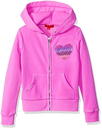 Butter Girls' Little Burnout Fleece Zip Hoodie, Peace Paradise Pink 5 ()
