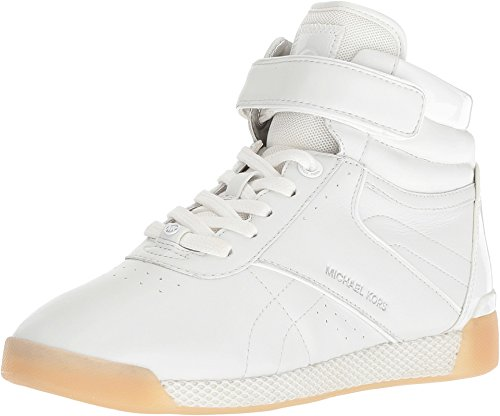 Michael Michael Kors Women's Addie High Top Sneaker (7 M US, Optic White Lace Up)