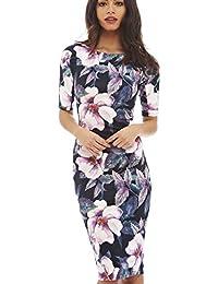 Women Dress Vestidos Designer Elegant Floral Print Work Business Casual Party