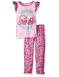 "Shopkins Little Girls' ""Donut Disturb"" 2-Piece Pajamas"