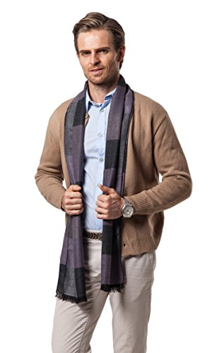 Runtlly Men's Fashion Super Soft Luxurious Cashmere Feel Winter Scarf