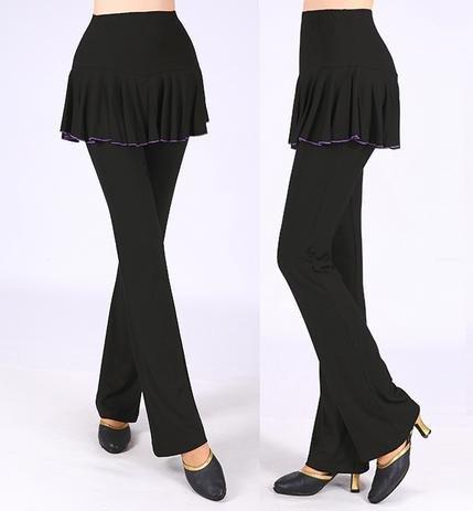Vêtements de danse féminine Culottes , xl , black lock single side skirt