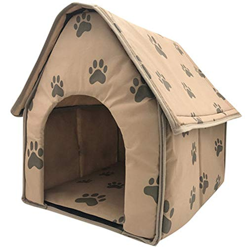 (Small Dog Bed House Sofa Foldable Dog House Tent Cat Kennel Indoor Portable Travel Puppy Polyester Mat Cave Fashion,Multicolor,Click Here)