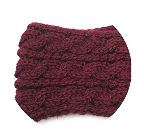 Bond Saucer Coffee (Elasticity Warm New Women 's Ear Hoods Widening Wool Hair Band Three Rows Of Twist Cross Knitted Headbands,3)
