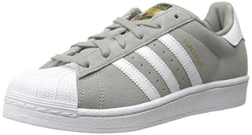 adidas Originals Herren Superstar Wildlederschuh Solid Grey / Weiß / Solid Grey