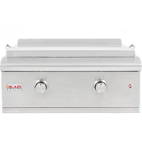 Blaze 30-Inch Built-In Gas Griddle with Lights (BLZ-GRIDDLE-LTE-NG), Natural Gas (In Built Outdoor Griddle)