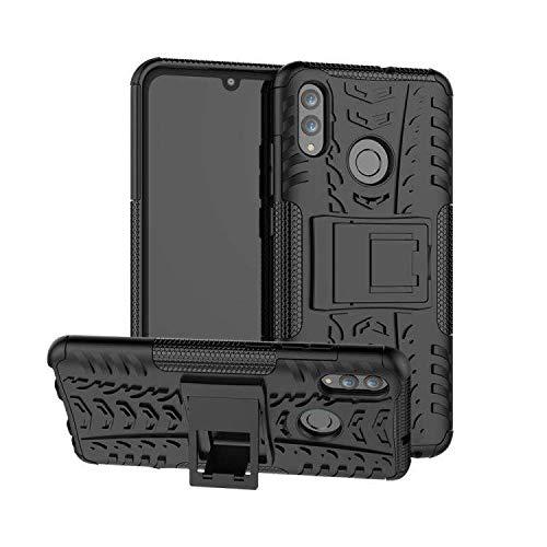 AMZER Hybrid Dual Layer Warrior Case for Huawei Honor 10 Lite,Huawei P Smart (2019) - Black