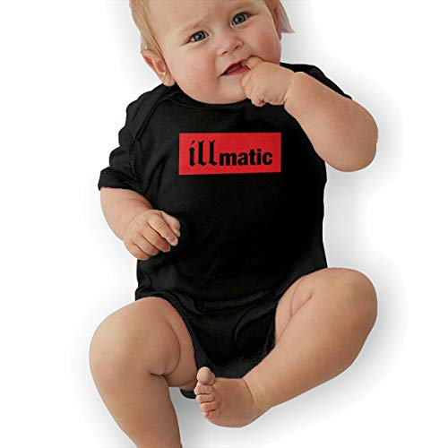Baby NAS Illmatic Short Sleeve Stylish Creeping SuitBaby Suit 0-3M Black