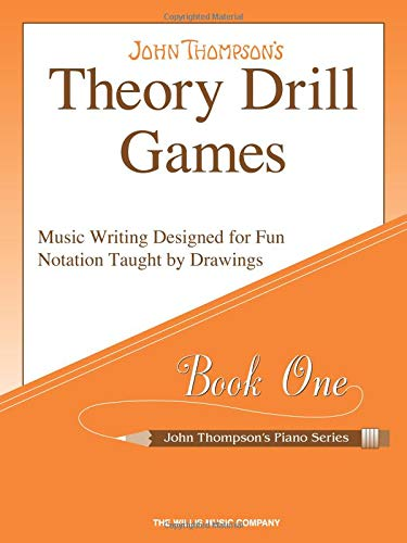 Theory Drill Games Set 1: Early Elementary Level (John Thompson's Piano Series)
