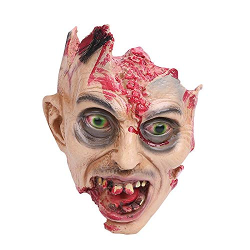 Horror Vampire Adult Infected Zombie Head Scary Party Costume Screaming Corpse Ornament Decorations for Halloween Home Decoration