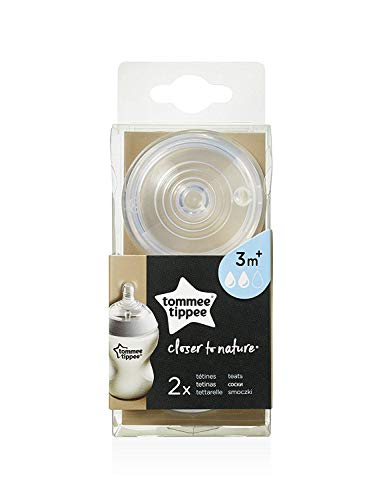 Tommee Tippee Closer to Nature Baby Bottle Feeding Nipple Re