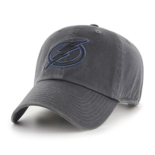 NHL Tampa Bay Lightning Male OTS Challenger Adjustable Hat, Dark Charcoal, One Size