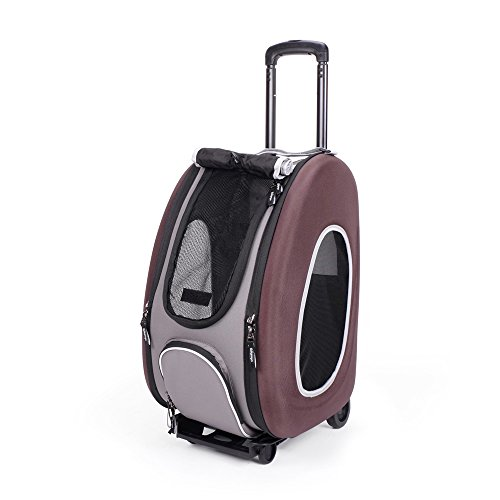 Ibiyaya EVA Pet Carrier/Wheeled Carrier, Hot Pink