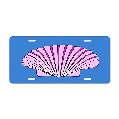 FloralFlames Beautiful Ocean Clam Shell Duvet Cover License Plate Cover Beautifully Designed Specially Made