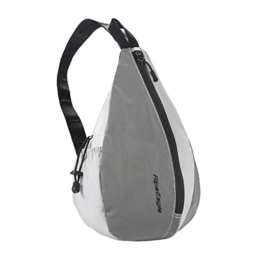 Zebee Sling Bag - Ultra-Light Reflective Waterproof Breathable Cycling/Night Running Outdoor Backpack (Gray)