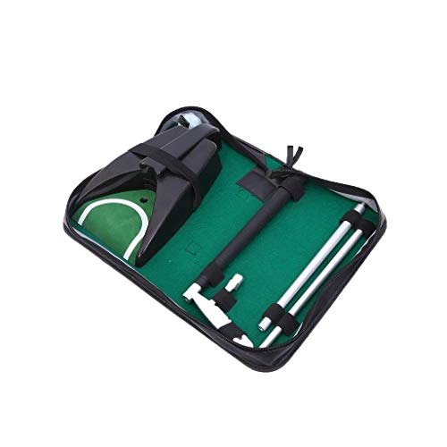 Lightahead Complete Executive Indoor Golf Putter Cup Kit with Auto Ball Return Function for Golf Practice Indoor Outdoor Yard Office