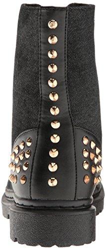 Gia Mia Dancewear Damessnit Studded Combat Boots Black