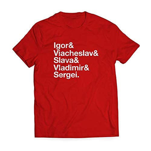 The Russian Five Official Movie Shirt - Minimalist Player Names Design